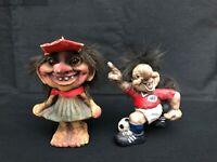 Vintage Norwegian Trolls , Handmade Nyform, Lot Of 2