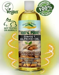 Nature Shine Sweet Almond Oil 500ml Ideal for Massage, Skincare & Haircare