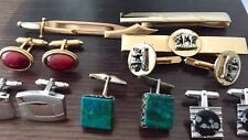 Money Clips & 1 Tie Clip Lot: 5 Pair Cufflinks & 2