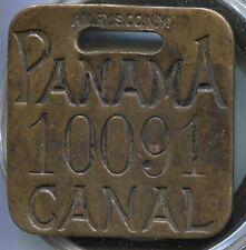 Unique Panama Canal Tool Check Medal - Bronze - Lot # EC 070