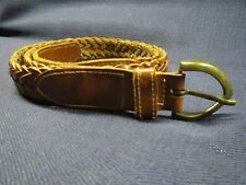 "Vintage Genuine Leather Braided Boys Belt 38 1/2"" Length  Made in Turkey (L)"