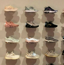 Floating Sneaker Display - Clear Plastic Wall Mount - Set of 12