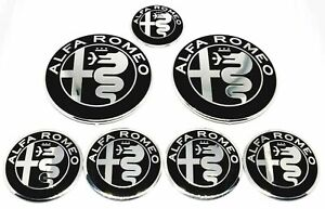 Kit loghi ALFA ROMEO 147 156 MITO GT Stemma Fregio Logo 8 pezzi
