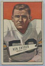 1952 Bowman Football Large #22 Ken Snyder Georgia State VG-EX