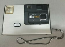 Kodak Disc 4000 Camera with Attached Metal Wrist Strap Vintage Untested