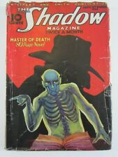 The Shadow Sept. 15, 1933 GD+ Cool Skeleton Cover! Mystery Pulp Magazine!