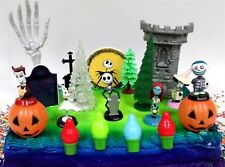"Nightmare Before Christmas 17 Piece Birthday Cake Topper Set Featuring 2"" to 3"""