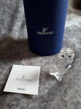 Swarovski crystal glass owl bird ornament gift