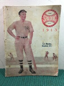 VERY RARE 1913 A.G. SPALDING & BROS. CATALOG. A.J. MURPHY RONDOUT, N.Y.