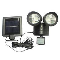 22LED solaire Lampe extérieure jardin lumière sécurité PIR capteur mouvement