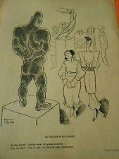 Au Salon de l'Automne La Statue quelle pureté race et quelle branche !Print 1933