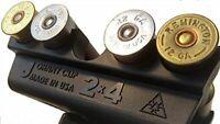 "Johnny Clip 2x4 Shell Caddy Holder Speed Loading For 2.75""- 3"" 12 Gauge Shotgun"