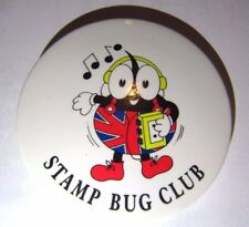 STAMP BUG COLLECTORS CLUB COLLECTING BUG BADGE PIN 1980s 1990s RETRO UK ENGLAND