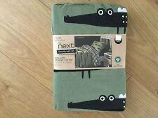 "Next Boys ""Snappy Croc"" 100% GOTS Organic Cotton Printed Single Bedset - BNIP"