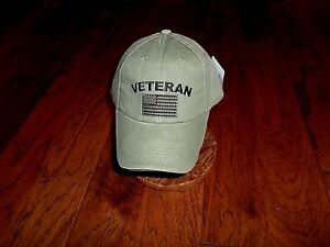 U.S MILITARY VETERAN HAT U.S AMERICAN FLAG EMBROIDERED BALL CAP STONEWASHED