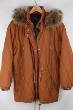 Bogner Burnt Copper Quilted Coyote Fur Zip Off Hood Insulated Ski Parka USA 14