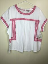 Falls Creek Womans Top Size 3X  Embroidered Boho