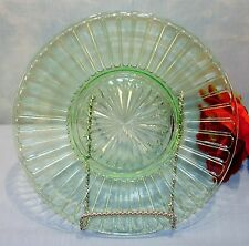Hazel Atlas Ribbon Green Depression Glass Luncheon Plate 8 in.