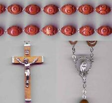 Carved Wood Wall Rosary - Made in Italy - Bonus St Anthony Relic Medal