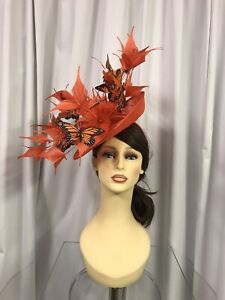Snoxell & Gwyther Fascinator, Wedding Occasion, Formal Races In Orange NWT