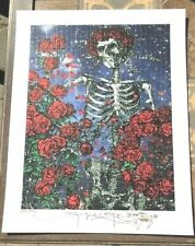 BLOTTER ART Signed & Numbered SKELETON & ROSES By STANLEY MOUSE