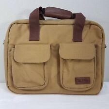 Bella Russo Portable Laptop Notebook Computer PC Handle Brown Canvas Bag Case