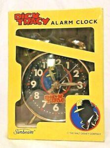 VINTAGE SUNBEAM DICK TRACY WIND-UP 30 HOUR ALARM CLOCK MODEL# 883-142, NIB
