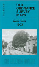 Mapa antiguo Ordnance Survey Axminster Town Centre yarty puente Hilary House 1903