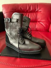 Swear London Leather Karin Silver Boots Size UK 6 EUR 39