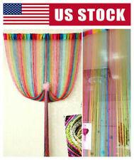 Rainbow Tassel Door Curtain Beads Hanging Wall Panel Room Divider Home Decor US
