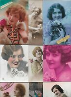 Victorian Style Fantasy Beautiful Ladies Flowers & more Postcard Lot of 20 01.17