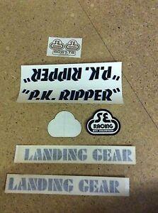 Genuine NOS 1980's PK Ripper Stickers (Black Blue) SE RACING
