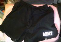 Army PT Shorts PFU Extra Large Physical Fitness Training Black US Lined