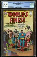 World's Finest #138 CGC 7.5 Off White to White Pages 12/63 Superman Batman