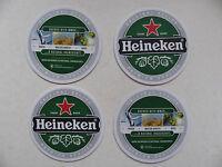 Beer Mats 4 Pack Budweiser Cools Malibu Heineken Coasters Beermats Suds Drips