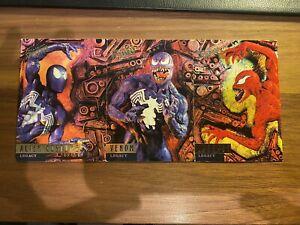 Spider-Man 1995 Fleer Ultra Alien Costume 82, Venom 83, Carnage 84 Card Set