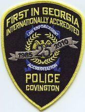 COVINGTON GEORGIA GA First In Georgia Internationally Accredited POLICE PATCH