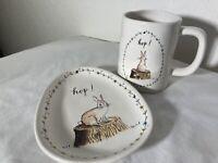Rae Dunn NWOT Hop Mug & Dessert Plate