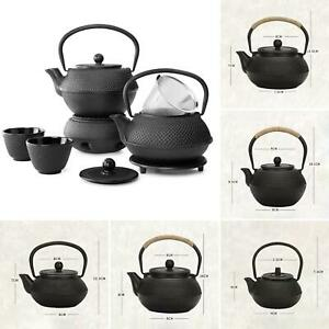 LN_ 900/1200ml Cast Iron Tea Pot Japanese Style Kettle With Infuser Filter Tea