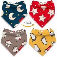 Cheraboo Baby Bandana Drool Bibs 4 Pack Gift Set - Soft & Reversible 69% off
