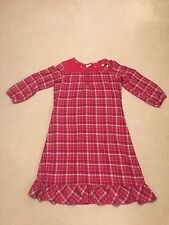 Disney Store Girls Long Plaid Red Pajama Nightgown Size Medium