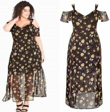 City Chic XS 14 Maxi Nouveau Floral Dress