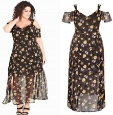 City Chic XL 22 Maxi Nouveau Floral Dress