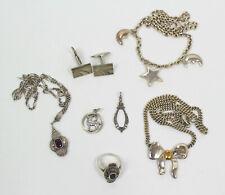 alt Silber Schmuck Halskette Ring Anhänger Manschettenknöpfe Punzen 925 830 u.a.