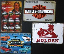 Tin Sign Garage Man Cave Shed Holden Ford Mustang Harley Brock Mens Rustic Signs