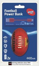 AFL Sherrin Rechargeable Phone Charger Powerbank Hawthorn--DUAL USB,4400 mAh