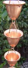 2-ft Extension Copper Rain Chain Large Cup/Bell Made by Stanwood Rain Chain
