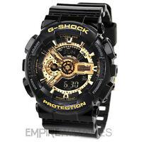 **NEW** CASIO G-SHOCK MENS BLACK GOLD SPORTS WATCH - GA-110GB-1AER - RRP £140