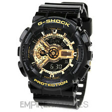 **NEW** CASIO G-SHOCK MENS BLACK GOLD SPORTS WATCH - GA-110GB-1AER - RRP £140