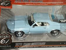 "HIGHWAY 61 1970 FORD MUSTANG CJ428 ""Q"" CODE LIGHT BLUE 1/18"